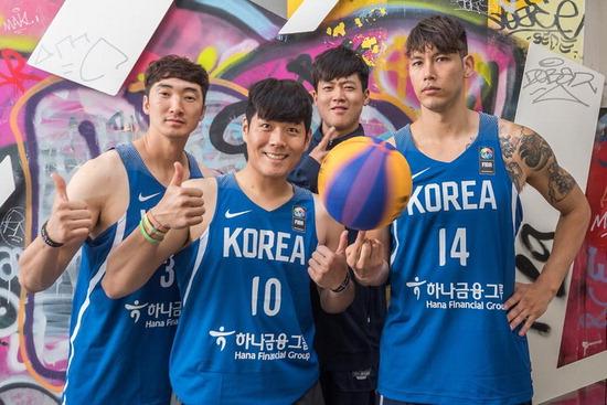 ▲ 국제농구연맹 월드컵에서 첫 승리를 따낸 한국 3대3 농구대표팀 . <FIBA 인터넷 홈페이지 캡처>