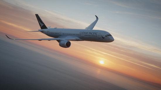 ▲ 캐세이패시픽항공이 '인천~홍콩' 노선에 투입하는 최신 기종 A350.
