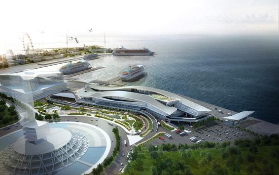 ▲ 인천항 신국제여객터미널 및 크루즈 터미널 조감도.