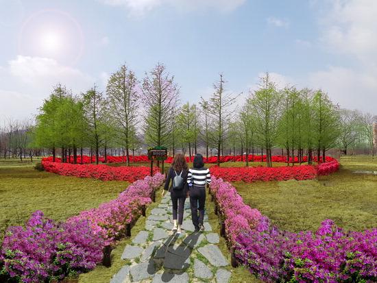 ▲ 가평군이 자라섬 중도에 조성 계획 중인 철쭉공원 &lsquo;봄의 정원&rsquo;. <가평군 제공>