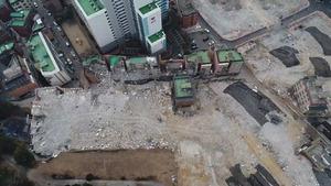 ▲ 드론으로 촬영한 광명시의 한 날림먼지 발생사업장.  <경기도 제공>