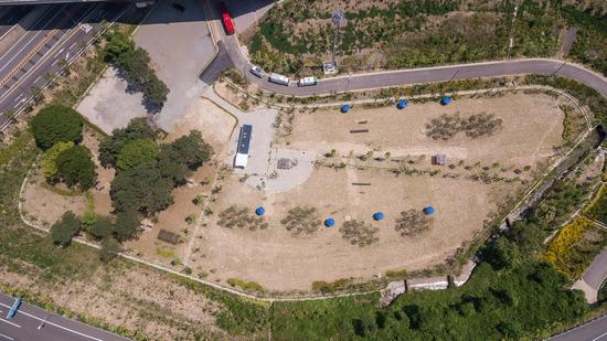 ▲ 안양시 제2경인고속도로 삼막나들목 교통광장에 위치한 삼막애견공원.