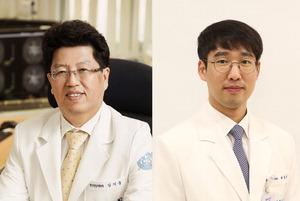 ▲ 김기웅 교수(왼쪽),배종빈 임상강사