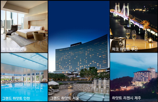 ▲ 추석 연휴 프로모션이 진행되는 파크 하얏트 서울(왼쪽)과 그랜드 하얏트 인천.