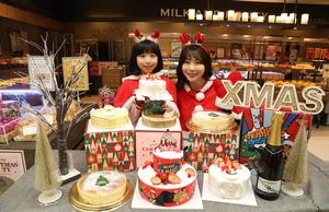 ▲ 이마트가 크리스마스를 맞아 전국 이마트 내에 운영하는 베이커리 '데이앤데이', '밀크앤허니'에서 '일렉트로맨과 파티' 2단 케이크, '아기스노우맨' 케이크, '메리크리스티라미수', '달콤한 스노우맨 파티' 고구마 케이크, '크리스마스 치즈케이크'를 선보인다고 24일 전했다.  <이마트 제공>