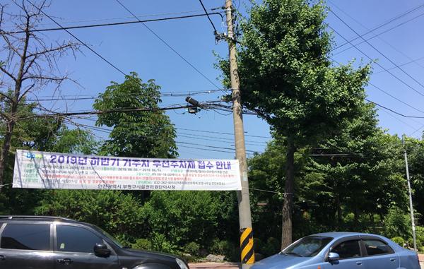 ▲ 17일 인천시 부평구 부평동 북구도서관 인근 도로 가로수 사이로 전깃줄이 지나고 있다.<br /><br />
