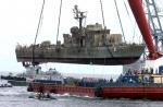 서해교전 침몰 고속정 인양
