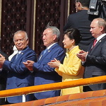 시진핑-푸틴과 나란히 선 박 대통령