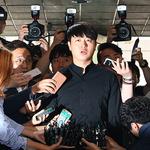 """'성폭행 미수' 논란 유상무 경찰 출석 """"심려 끼쳐 죄송"""""""