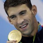 황제 펠프스의 '올림픽 피날레' 수영 5관왕으로 23번째 금메달