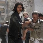 """시리아 북부 공습에 80여명 사망…""""휴전안 휴짓조각 전락"""" 우려"""