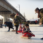 인천 논현포대공원서 겨울 지친다