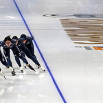 한국 빙속 대표팀, 평창 동계올림픽 경기장서 훈련…