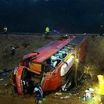 금오공대 학생 탄 45인승 버스, 5m언덕 아래 추락…운전기사 사망… 겨울 벌판에서 참극으로 '벌벌벌'