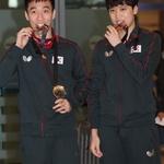 이상수·정영식, 세계탁구선수권 동메달 따고 왔어요