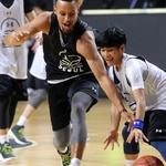 NBA 스테픈 커리와 농구 한 판