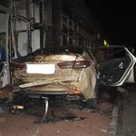 인천 채드윅 국제학교 인근에서 차량이 상가건물 충돌사고