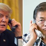 """文, 트럼프에 """"한반도 두 번 다시 전쟁 없어야"""""""