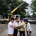 과천시의회 이홍천 의장, 관문천 유지 용수 공사현장 점검