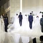 지각 결혼식 올린 군장병 부부들 '가정에도 충성'