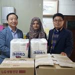 부천소사경찰서 '희망의 등대', 사회적 약자 지원 생필품 전달
