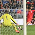 한국축구, 세르비아와 평가전… 손흥민의 강력한 슈팅