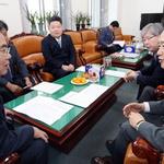 국회 찾은 남경필 예산안 관련 논의