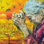 가족과 헤어진 할머니의 아픔 생각하며