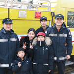 인천 공단소방서, '소방차 길 터주기 훈련' 진행