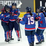 여자 아이스하키 남북 단일팀 첫 평가전