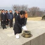 박윤국 포천시장 예비후보 등록 마치고 충혼탑 참배