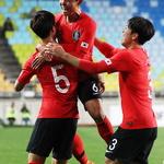 U-19 축구대표팀 김현우 선제 결승골… '수원 JS컵' 1차전 승리