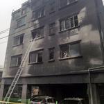 오산 원룸 건물 화재 소방관 등 18명 부상