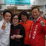 남경필·곽영달, 시흥시장 찾아 민심 훑다