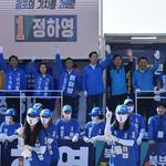 정하영, 김포 한강로 4거리서 출근길 유세로 표심 공략