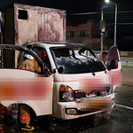 평택 시의원 후보 선거유세 차량에 불