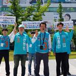 박주원 안산시장 후보,25시 문화광장과 별빛광장을 찾은 시민들과 만남 가져
