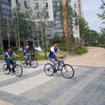 김효상, 자전거 유세 중… 화성시민에 투표 독려도