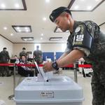 파주지역 비무장지대(DMZ) 국군 장병들 사전투표 참여