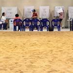 투표장이 된 씨름장