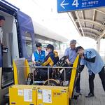 양평역 역무원,  홍천군 지체장애인협  열차이용 지원