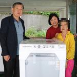 의정부시 신곡 1동 복지센터, 조손 가정에 세탁기 지원
