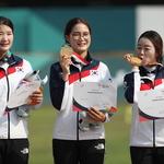 여자양궁 리커브 단체 6회 연속 금메달