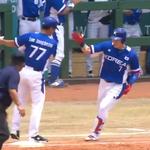 한국 일본 야구 , 대포 폭발 유리한 고지에 , 마운드 철벽