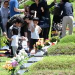 천주교 용인공원묘원 찾아 '미리 성묘'