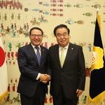 이용범 인천시의회 의장, 문희상 국회의장과 간담