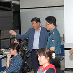 오지용 동두천서 서장, CCTV통합관제센터 방문 관제요원 격려
