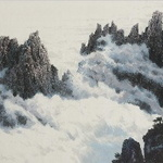 붓 끝에서 피어난 흑백 금강산의 아름다움