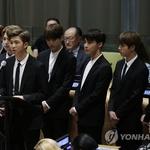 """방탄소년단, 유엔서 뭉클한 메시지…""""나만의 목소리를 내주세요"""""""