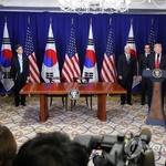 """트럼프 """"한미FTA, 통상분야 역사적 이정표…무역협력 본보기"""""""